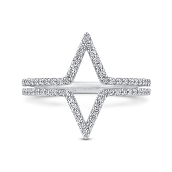 10K White Gold 1/3 ct Round Diamond Fashion Ring