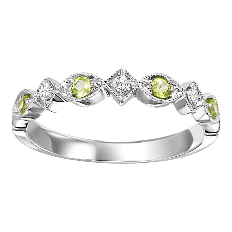 Mixables 10K Peridot & Diamond Mixable Ring