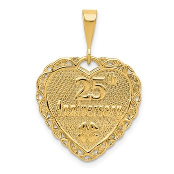 14k Reversible 25th ANNIVERSARY Charm