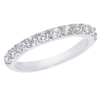 14K White Gold .77 ct Diamond Band Ring