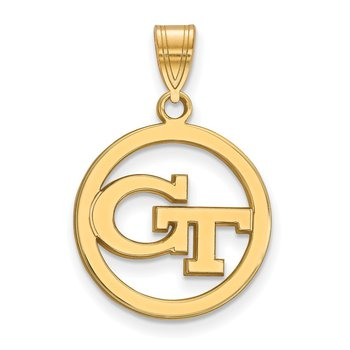 Gold-Plated Sterling Silver Georgia Institute of Technology NCAA Pendant