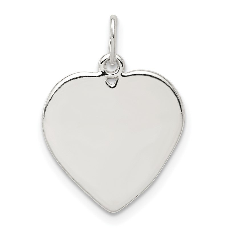 Quality Gold Sterling Silver Small Heart Charm