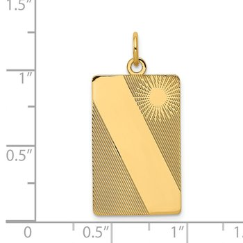 14k Patterned .013 Gauge Engravable Dog Tag Disc Charm