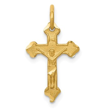 14k INRI Diamond-cut Crucifix Charm
