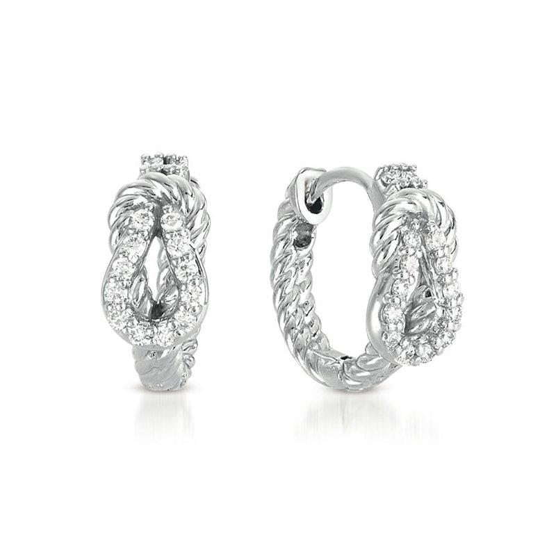 S. Kashi  & Sons White Gold Love Knot Rope Hoop