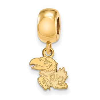 Gold-Plated Sterling Silver University of Kansas NCAA Bead