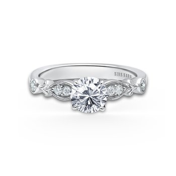 Floral Natural Diamond Wedding Band