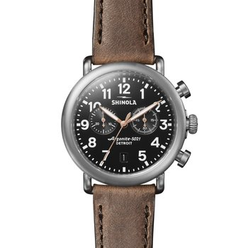 Runwell 2 Eye Chrono 41mm, British Tan Leather Strap