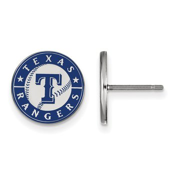 Sterling Silver Texas Rangers MLB Earrings