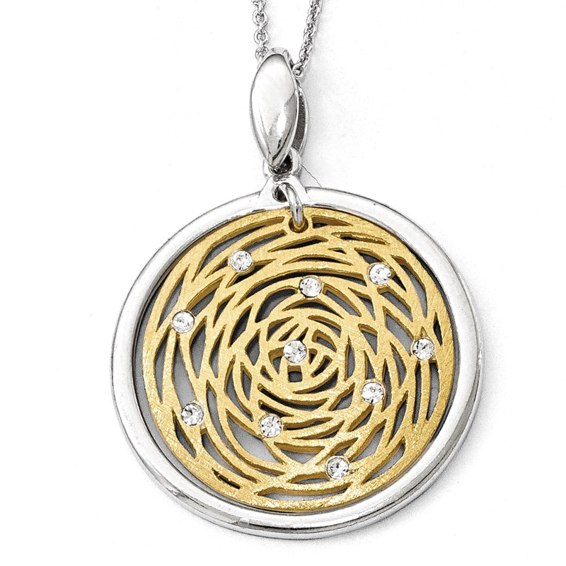 Leslies Sterling Silver Polished and Scratch Finish Pendant