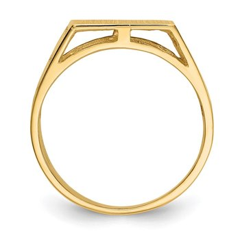 14k 12.0x12.5mm Open Back Men's Signet Ring