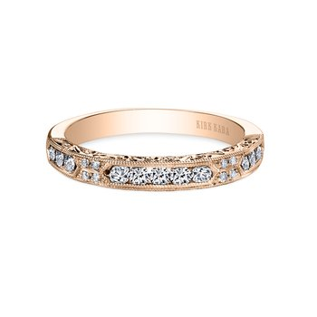 Engraved Expressive Diamond Wedding Band