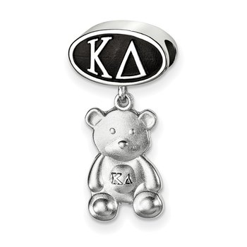 Sterling Silver Kappa Delta Greek Life Bead