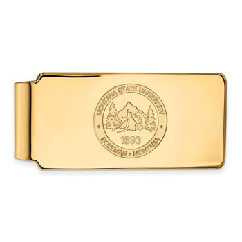 Gold Montana State University NCAA Money Clip