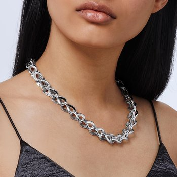 Asli Classic Chain Link 13.5MM Necklace in Silver