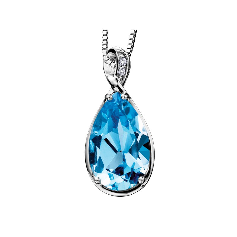 Diamond Days Blue Topaz Pendant