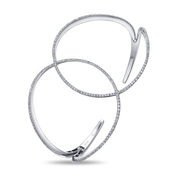 Interlocking Diamond Cuff Bracelet