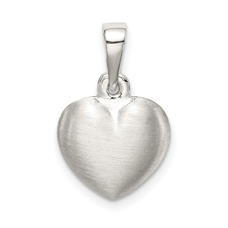 Quality Gold Sterling Silver Satin Heart Pendant