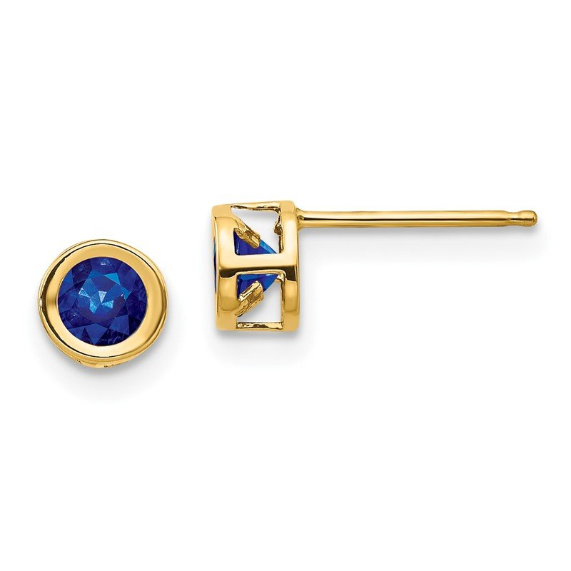 Quality Gold 14k Sapphire Earrings - September
