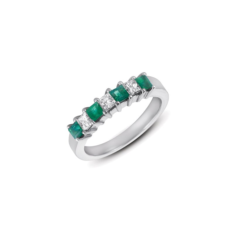 S. Kashi  & Sons Emerald & Diamond Band