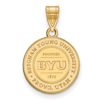 Gold-Plated Sterling Silver Brigham Young University NCAA Pendant