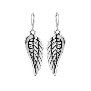 Large Wing Hook Earrings