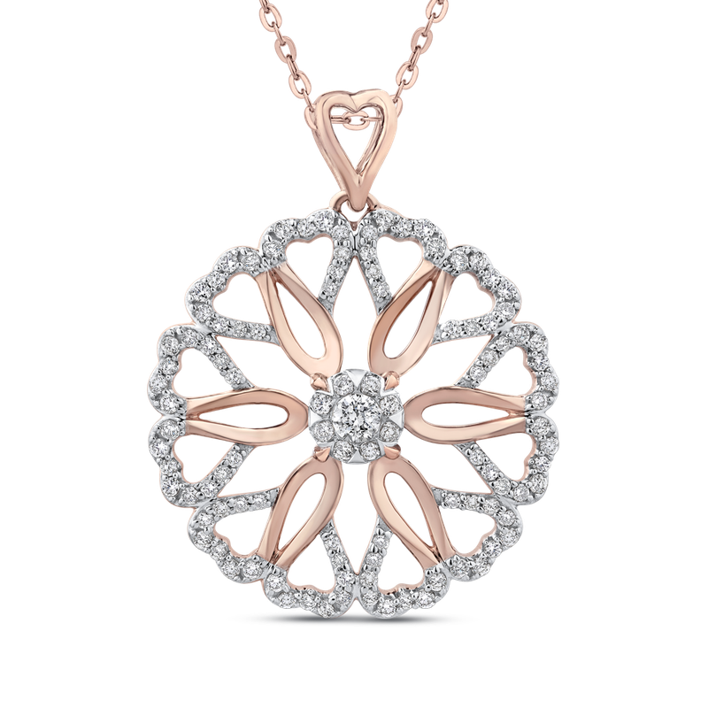 5/8 Ct Diamond Fashion Pendant with Chain