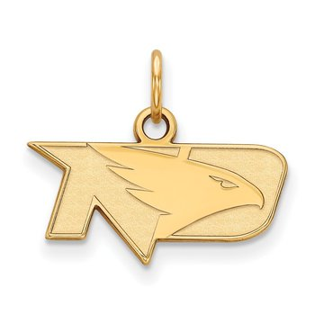 Gold University of North Dakota NCAA Pendant