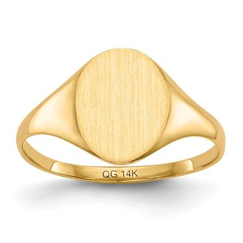 14k 10.0x8.5mm Closed Back Signet Ring
