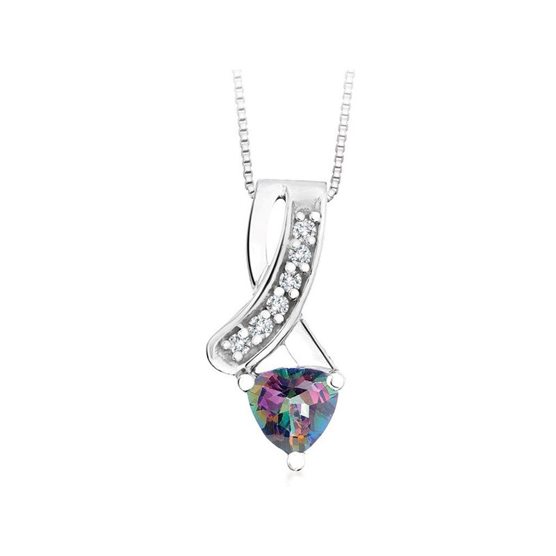 Diamond Wishes Mystic Topaz Pendant