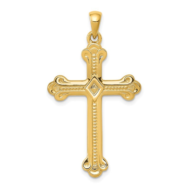 J.F. Kruse Signature Collection 14k Budded Cross Pendant