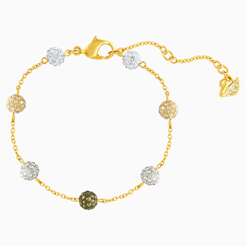 Swarovski Blow Bracelet, Multi-colored, Gold-tone plated