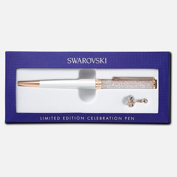 Crystalline Celebration 2021 Ballpoint Pen, White, Rose-gold tone plated