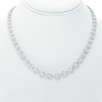 Flowering White Diamond Necklace