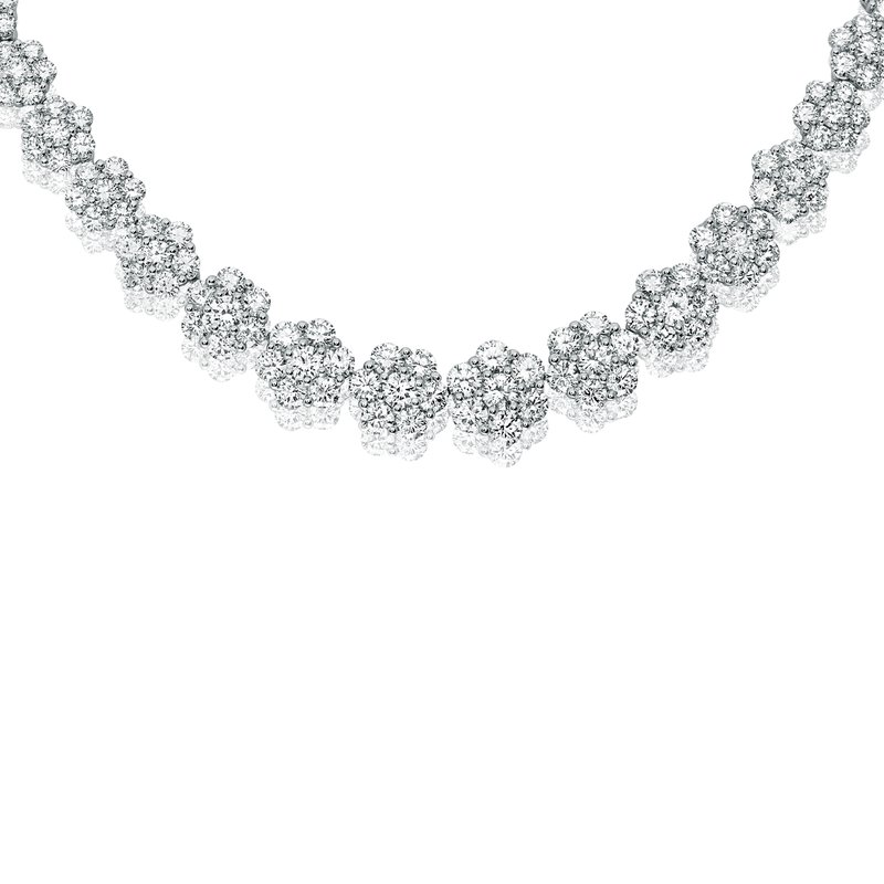 Roman & Jules Flowering White Diamond Necklace