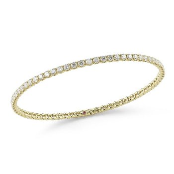 18KT GOLD BANLGE WITH DIAMONDS