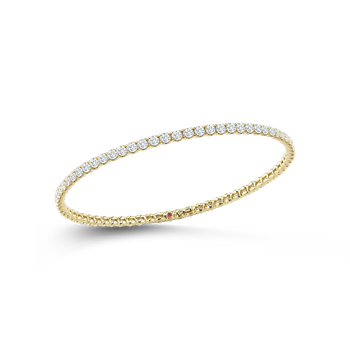Bangle With Diamonds &Ndash; 18K Yellow Gold, M