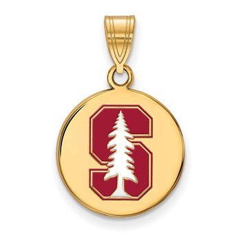 Gold-Plated Sterling Silver Stanford University NCAA Pendant