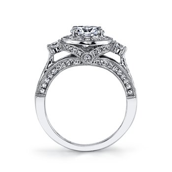 25221 Diamond Engagement Ring 0.76 ct tw