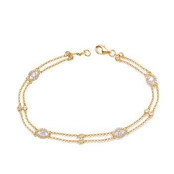 Yellow Gold Diamond By The Yard Bracele