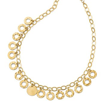 Leslie's Sterling Silver Gold-tone Circles w/ 2in ext. Necklace