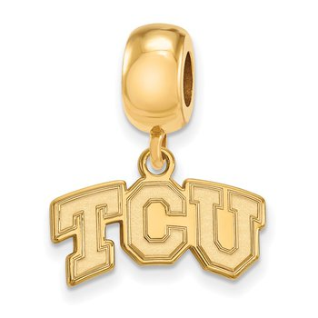 Gold-Plated Sterling Silver Texas Christian University NCAA Bead