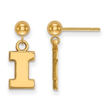 Gold University of Illinois NCAA Earrings