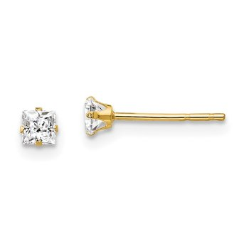 14k Madi K CZ Post Earrings