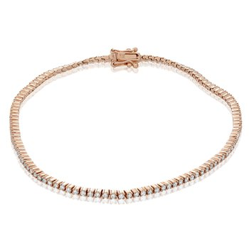 Rose Gold & Diamond Tennis Bracelet