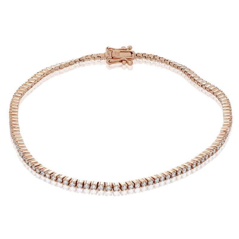 Roman & Jules Rose Gold & Diamond Tennis Bracelet