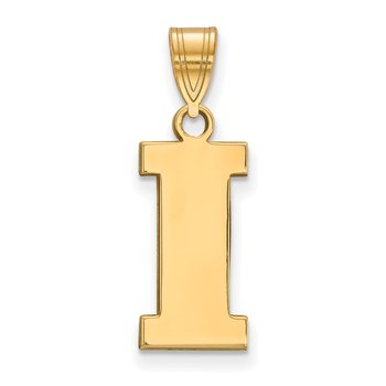 Gold-Plated Sterling Silver University of Iowa NCAA Pendant