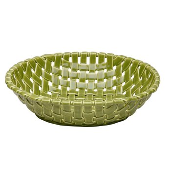 Large Oval Basket, Green