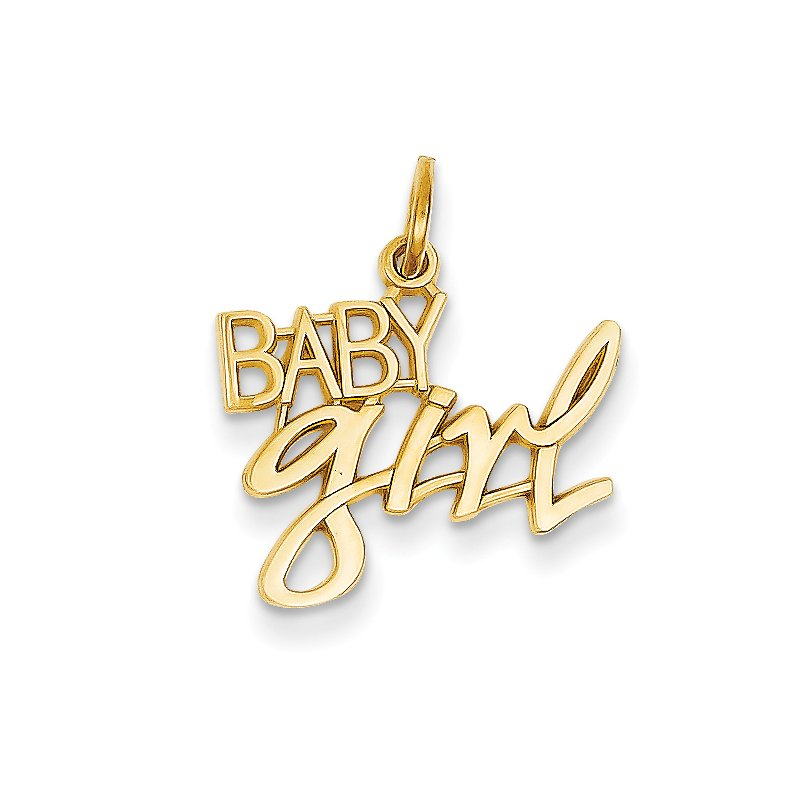Quality Gold 14k Baby Girl Charm