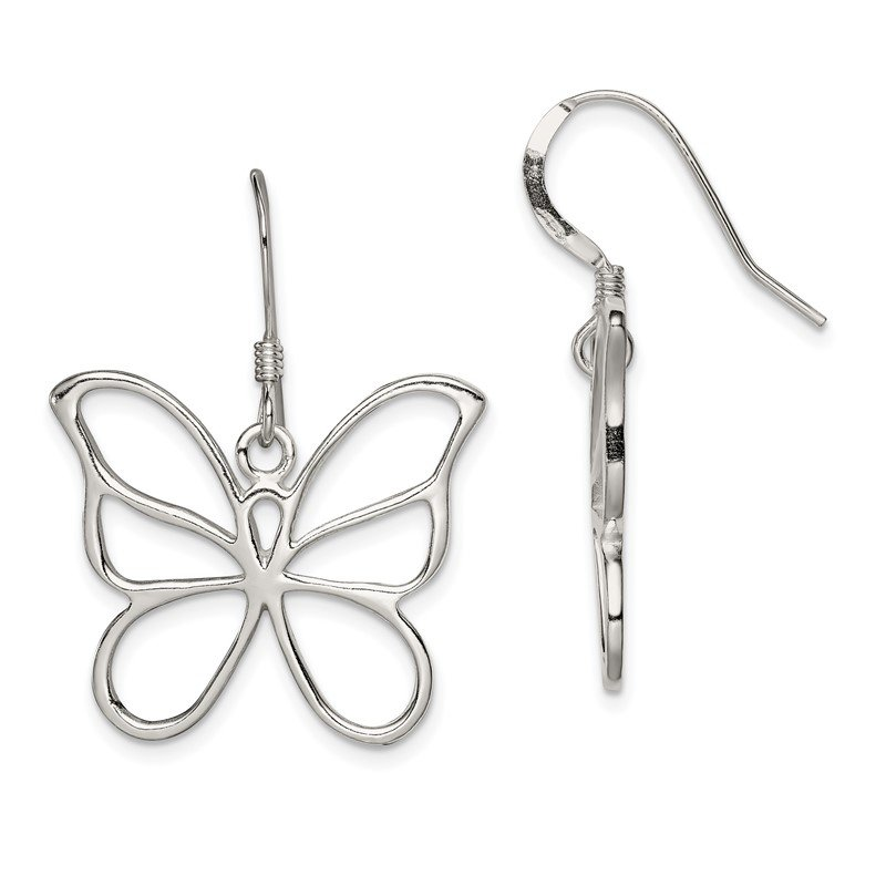 Quality Gold Sterling Silver Butterfly Earrings